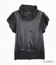 Turtleneck Tiered Sleeve Loose Top