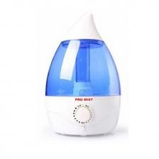 Promist 2.5L Ultrasonic Water Drop Humidifier, Air Purifier (Blue)