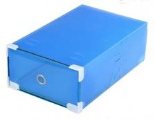 Set of 10 Transparent Shoes Drawer Organizer Box