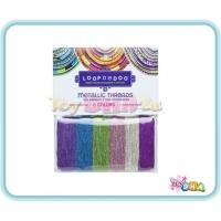 LOOPDEDOO Metallic Threads 6 Colours