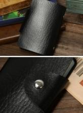 Korean Design 12 Places Card Holder Leather Case