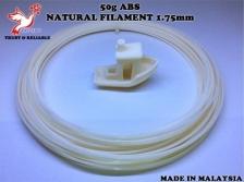 50g_High Grade ABS Natural Filament 1.75mm