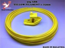50g_High Grade ABS Yellow Filament 1.75mm