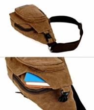 Korean Style Multifunction Canvas Shoulder Bags