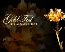 Mother's Gift - 24K Gold Carnation with Crystal Vase