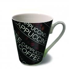 Cappuccino Coffee Mug Cup (Black)