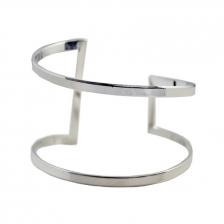 Silver Color Alloy Bracelet 6.4cm - BC128