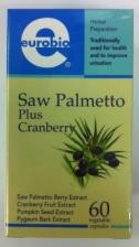 Eurobio Saw Palmetto Plus Cranberry 60's