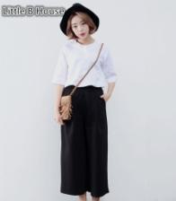 High Waist Wide Leg Pants -K6248