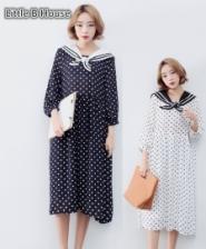 Polka Dot Midi Dress -LY6243