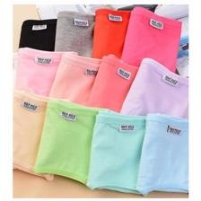 5 Pcs Candy Color Women Cozy Cotton Briefs Panties Underwear