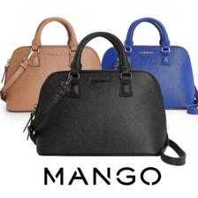 MNG Mango Saffino Effect Sling Shell Tote Bag Handbag