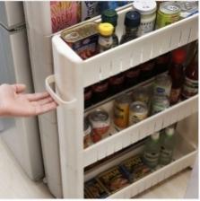 Space Saving Multipurpose Wheel Rack with Handle Kitchen Organise Rack