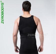 Zerobody Men 140D Body Shaper Belly Buster Compression Vest Singlet