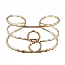 Gold Color 8 Character Alloy Bracelet 6cm - BC140