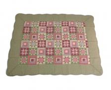 Patchwork Large 001 Vintage Story Door Mat Carpet Rug - Green Red