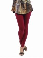 Fashion Quality Leggings Sheer Maroon (Ankle Length)