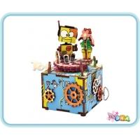 """Wooden Toy - DIY Wooden Music Box """"Machinarium"""""""