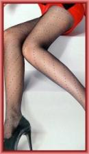 Fashion Pantyhose With Sexy Polka Dot Wrap Design 10D