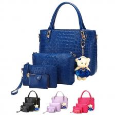 {JMI} 5 in 1 Crocodile PU Leather Hand Bag 68# - 3 Colors
