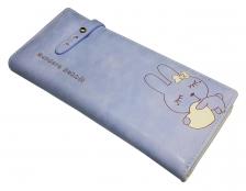 {JMI} Modern Rabbit Scrub Leather Smart Wallet
