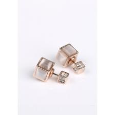 Square Diamonte double stud Earrings (backorder)