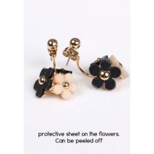 Daisy double stud earrings