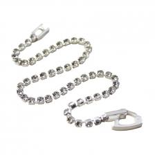 White Gold Color Flash Diamond Bracelet 16cm - BC148