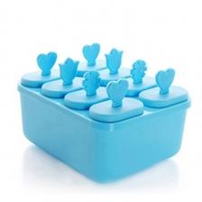 DIY Triangle Ice Cream Box Mould Maker Container (Blue)