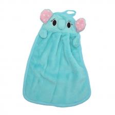 Cute Elephant Fiber Kitchen Rag (Blue)