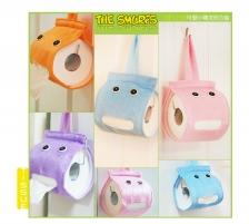 Cute Toilet Paper Roll Holder Pouch (Purple)