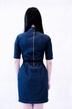 MC'B Turtleneck Denim Dress