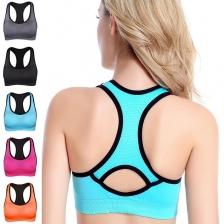 Women Active Workout Cut Out Back Stylish Sports Bra