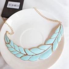 Aqua Leaf Necklace