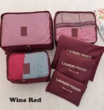 {JMI} TRAVEL Bags in Bag 6 Pieces Organizer Bag #0030 - 10 Colors