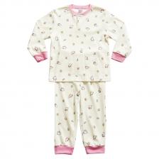 15 Button Full Print Long Sleeve / Rib Leg Opening Knit Toddler