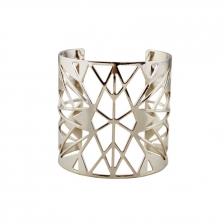 Pale Gold Color Hollow Alloy Bracelet 5.3cm - BC155