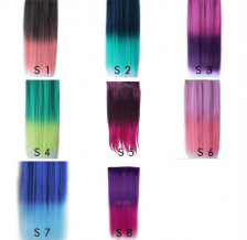 Dip Dyed ombre Straight Hair extensions