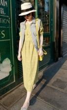 Fashion Retro Design Chiffon Long Dress (Without Jacket)