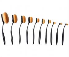 10 Pcs Toothbrush Shaped Oval Makeup Brushes Mermaid brush Eyeshadow Brush Set (Without box)