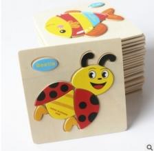 Wooden 3D puzzle toys - 3pcs