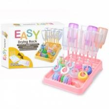 EASY Bottle Drying Rack : Baby Peach