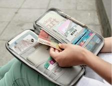Travel Funcional Passport Card Cash Holder Organizer Long Wallet