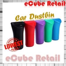 Car Dustbin Waste Basket Rubbish Garbage Container Trash Bin car clean ( Black )