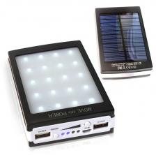Solar Panel 50000mah PowerBank With Camp LED Light (OEM) ( Black )