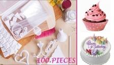 100PC CAKE DECORATING KIT + FREE STORAGE BOX