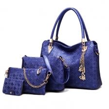 {JMI} 4 in 1 PU Soft Leather Luxurious Elegance HandBag 55# - 4 Colors~!