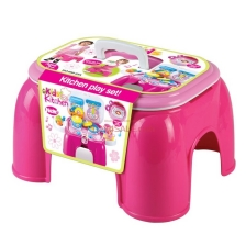 Multifunctional Kitchen Playset + Portable Chair Set Educational Toy