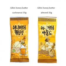 (2 pack) KOREA HONEY BUTTER CASHEWNUT 35g+ HONEY BUTTER ALMOND NUT 35g SNACK