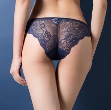Women Sexy Seamless Briefs Transparent Panties Lace Underwear